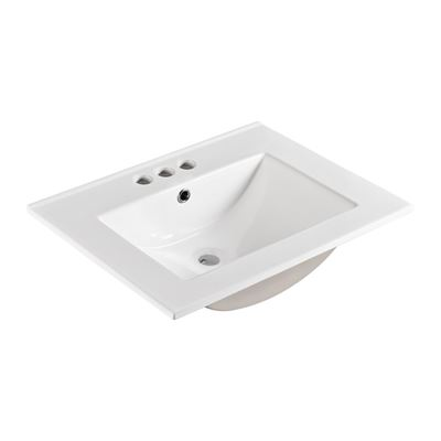 24 in. Single sink Ceramic top