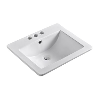 21 in. Single sink Ceramic top