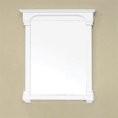 36 in Solid wood frame mirror-white