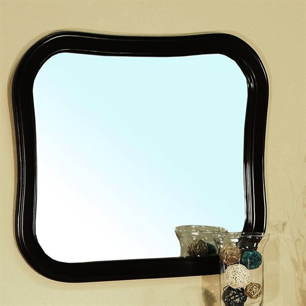 Solid wood frame mirror-espresso
