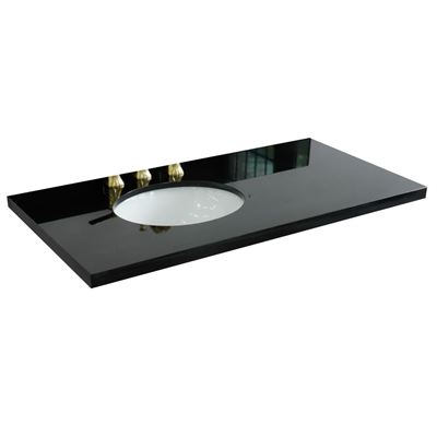 "43"" Black galaxy countertop and single oval left sink"