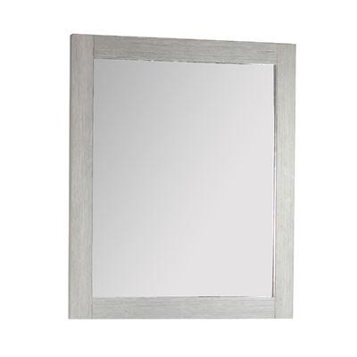 "26"" Rectangle Wood Frame Mirror in Gray Pine Finish"